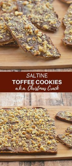 Saltine Toffee Cookies are crunchy, buttery and absolutely addicting. A delicious combination of sweet and salty, they're also called Christmas Crack for good reason!