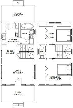 400 sq ft house floor plans 600 sq ft floor plans for 16x32 2 story house plans