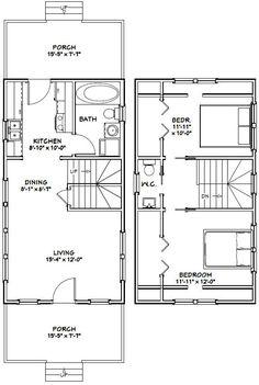 16x30 Tiny House -- #16X30H8E -- 878 sq ft - Excellent Floor Plans
