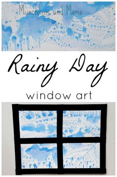 Rainy Day Window Art. Must put this simple process art activity in the lesson plans for spring!