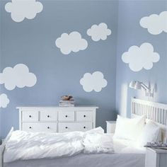 Clouds Vinyl decal wall sticker by LivingWall on Etsy, $45.00