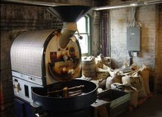 Go Jogn Burns - In 1864, John Burns, of New York, patented the first machine which didn't have to be moved away from the fire for discharging roasted coffee. All roasting machines produced since owe the Burns coffee roaster a hat-tip.