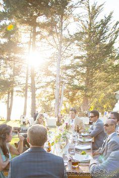 Big Sur Wedding Reception4 Photo: Peer Johnson Photography