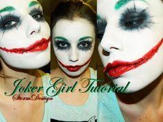 Joker Girl MakeUp Tutorial - YouTube