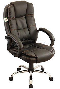 CherryTree Black Color High Back 360u0027 Swivel Height Adjustable Computer Desk  Luxury Executive Furniture Office