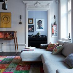 Living room | Take a tour around an eclectic Scandi home in Stockholm | housetohome.co.uk