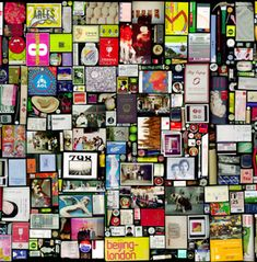 """One of Hong Hao's best known photographic series, """"My Things"""", opened up a new realm of personal expression for the artist. The photographs are composed of thousands of scanned images of objects from his own life. These commonplace things are arranged by the artist using a computer. There is no traditional photo taken by a camera. The objects are shown life size and some represent over 20 years of accumulation on the part of the artist while others could have been part of that day's lunch."""