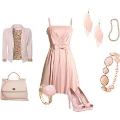 total soft pink, created by verika74 on Polyvore