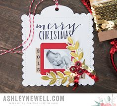 Christmas Photo Ornament by Ashley Cannon Newell for Papertrey Ink (November 2015)
