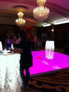 Light up dance floor, light up bistro tables #lightupdecor #partydecor #decoratingideas
