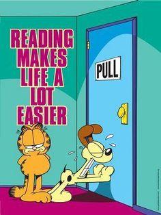 Reading makes life easier.