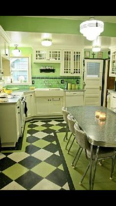Retro modern kitchen. Not everything has to be granite, beige, and stainless steel.