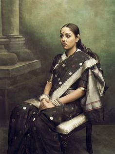 Contemporary photographer Joseph M. Daniel reimagines portraits of aristocratic Indian by Raja Ravi Varma, whose paintings have contributed to the imagination of an Indian feminine ideal.