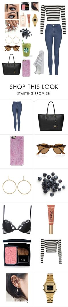 """""""picnic"""" by outfits69 ❤ liked on Polyvore featuring Topshop, MICHAEL Michael Kors, Casetify, Ray-Ban, Melinda Maria, La Perla, Too Faced Cosmetics, Christian Dior, Pinkrocket and Casio"""