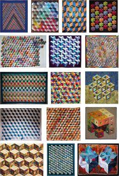 Quilt Inspiration: Quilt Inspiration 2010: Tumbling Blocks