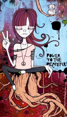 People say walking on water is a miracle, but to me, walking peacefully on Earth is the real miracle ~ [Art: Kelli Murray] Hippie Peace, Happy Hippie, Hippie Love, Hippie Style, Hippie Things, Hippie Masa, Hippie Chick, Peace Love Happiness, Peace And Love