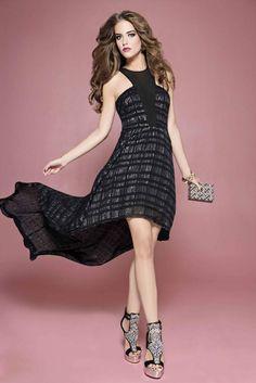 Hi-Lo Jacquard Dress