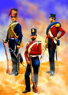 British 8th Hussar with Regiment of Foot at Alma, Crimean War