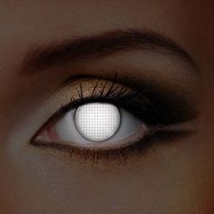 White Screen UV i-Glow Halloween Colored Contact Lenses (1 Year)