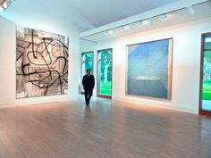 Christopher Wool Richard Diebenkorn Artist Paintings Marguerite Hoffman House Art Collection Dallas Texas