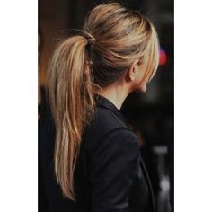10 Lovely Ponytail Hair Ideas for Long Hair, Easy Doing Within 5... ❤ liked on Polyvore featuring hair