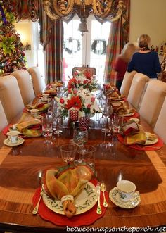 christmas tablescapes | Christmas Tablescape with Lenox, Holiday_wm | Christmas