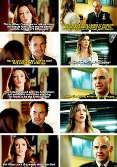 Laurel & Quentin #Arrow #1x5 #3x18