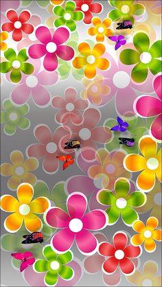 Cute Desktop Wallpaper, Iphone Homescreen Wallpaper, Flowery Wallpaper, Flower Phone Wallpaper, Butterfly Wallpaper, Pretty Wallpapers, Butterfly Art, Cellphone Wallpaper, Flower Wall