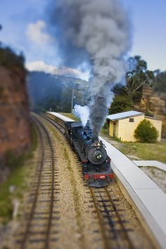 Old Steam Train by aussiegall