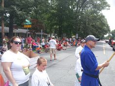 Lining up for the parade