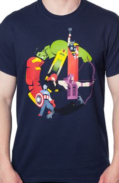 Age of Ultron Avengers T-Shirt: Marvel Comics The Avengers T-Shirt