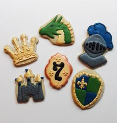 Knights, Castles and Dragons Cookies