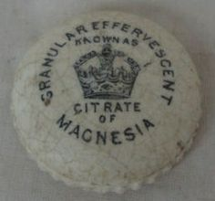 Citrate of Magnesia Pot Lid