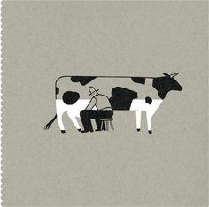 「牛 イラスト おしゃれ」の画像検索結果