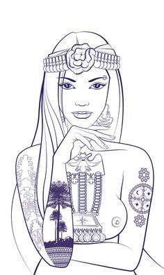 Illustration Children of Earth Girl Tattoos, Tattoos For Women, Tatoos, The Black Cauldron, Black Sails, Political Art, Little Black Books, Mermaid Art, Egyptian Art