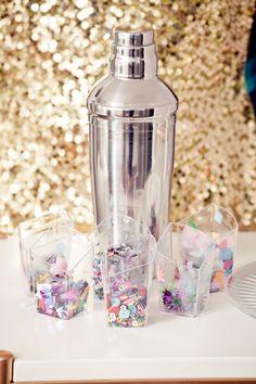 Colorful confetti = diy confetti cocktails by The Confetti bar.