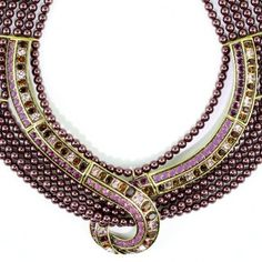 """The classic collar necklace """"Hypnotic Intrigue"""" Necklace."""