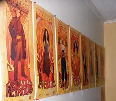 The awesome posters from the Les Hommes and Les Femmes art nouveau Firefly sets.
