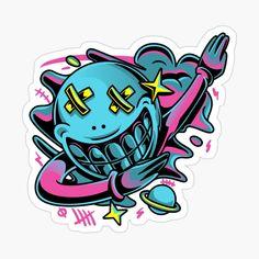 'Hip Novelty Design' Sticker by Drugaya Decorate Notebook, Too Cool For School, Glossier Stickers, Sell Your Art, Sticker Design, Punk Rock, Original Art, My Arts, Art Prints
