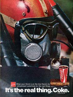 1971 Coca Cola Coke Advertising Hot Rod Magazine August 1971