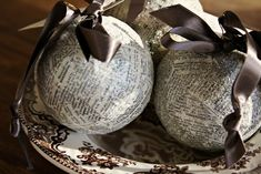 use great grandma's song book for ornaments