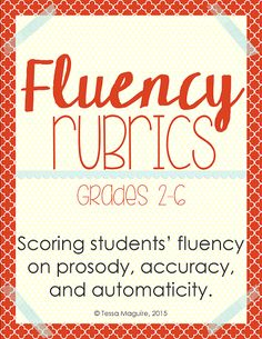 Use these free rubrics to score students' fluency on prosody, accuracy, and automaticity.