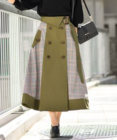 Batik Fashion, Skirt Fashion, Hijab Fashion, Fashion Dresses, Cute Dress Outfits, Trendy Outfits, Coat Dress, I Dress, Draped Skirt