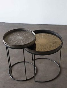 Side tables with trays by Notre Monde - Woontheater