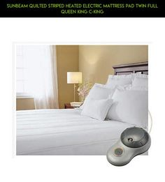 Sunbeam Quilted Striped Heated Electric Mattress Pad Twin Full Queen King C-King #racing #products #pad #camera #gadgets #kit #parts #tech #technology #shopping #plans #heating #fpv #mattress #drone #queen