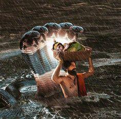 Image may contain: one or more people, outdoor and water Krishna Leela, Baby Krishna, Jai Shree Krishna, Krishna Radha, Lord Krishna, Pichwai Paintings, Lord Vishnu Wallpapers, Shiva Wallpaper, Krishna Painting