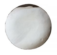 55.00  White glaze layered on dark brown clay.  Slightly curved lip.  Diameter approximately 11 inches.  Made to order. Please allow 4 weeks for delivery.