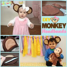 Monkey Party: DIY Monkey Headband Tutorial | Mimi's Dollhouse