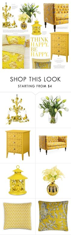 """""""Think of Happy Thoughts"""" by lilith1521 on Polyvore featuring interior, interiors, interior design, home, home decor, interior decorating, Orla Kiely, Canopy Designs, Diane James and Threshold"""