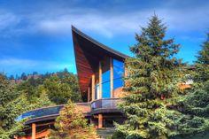 Leaneagh House, AKA 'The Aspen Leaf House'. Boulder Co. 1980-1. Charles Haertling